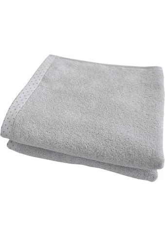 Dyckhoff Handtücher »Pünktchen«, (2 St.), mit gemustertem Saumabschluss kaufen