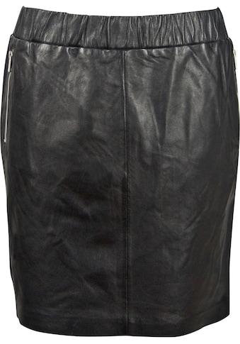 Gipsy Lederrock, mit Zippertaschen & Stretchbund kaufen
