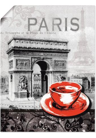 Artland Wandbild »Paris - Café au Lait - Milchkaffee«, Gebäude, (1 St.), in vielen... kaufen