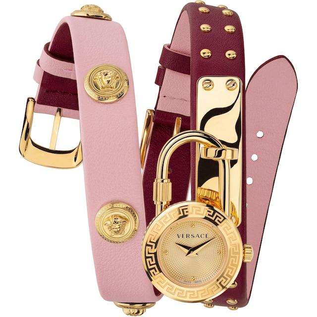 Versace Schweizer Uhr »Medusa Lock Icon, VEDW00319« (Set, 3 tlg., mit zusätzlichem Lederband)