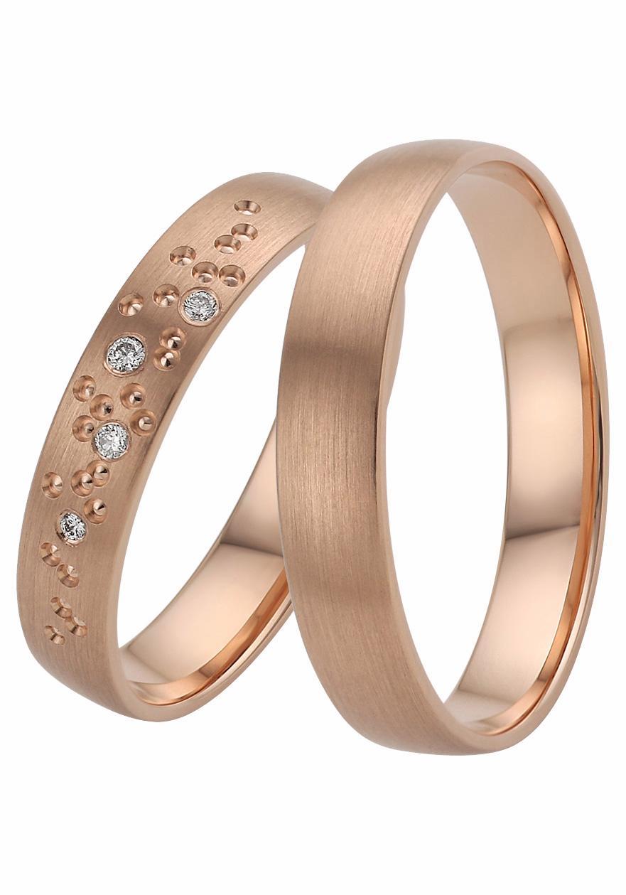 Firetti Trauring mit Gravur »platiniert, glanz, längsgebürstet, mit Diamantschnitt«   Schmuck > Ringe > Ringe mit Gravur   FIRETTI