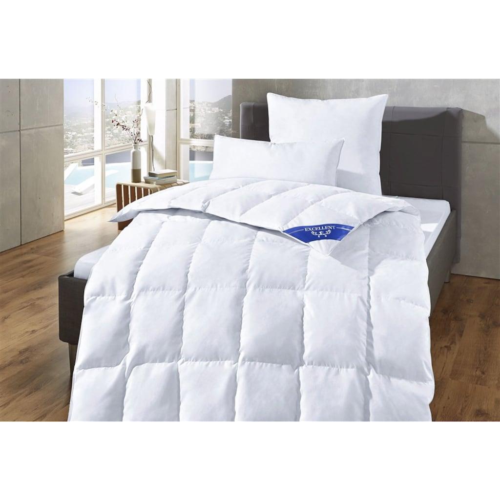 Excellent Daunenbettdecke + Kopfkissen »Komfort«, (Spar-Set), Schlafkomfort fürs ganze Jahr! Im Set günstiger!
