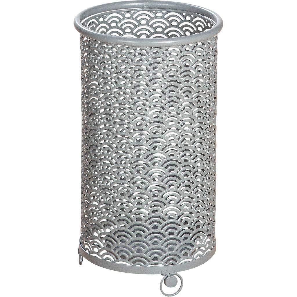 GILDE Schirmständer »Regenschirmständer Fächer«, rund, Ø 24 cm, aus Metall