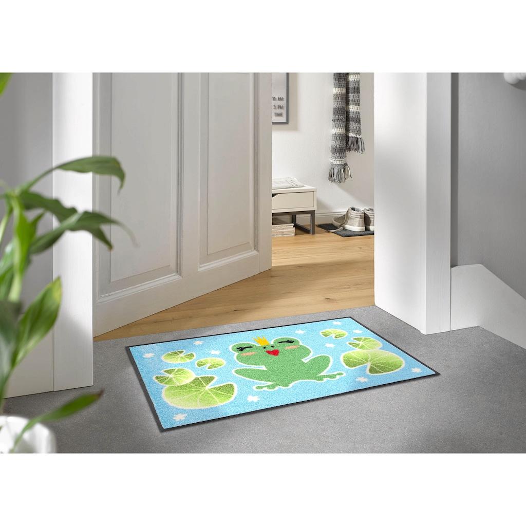 wash+dry by Kleen-Tex Fußmatte »Froschkönigin«, rechteckig, 7 mm Höhe, Schmutzfangmatte, In- und Outdoor geeignet, waschbar