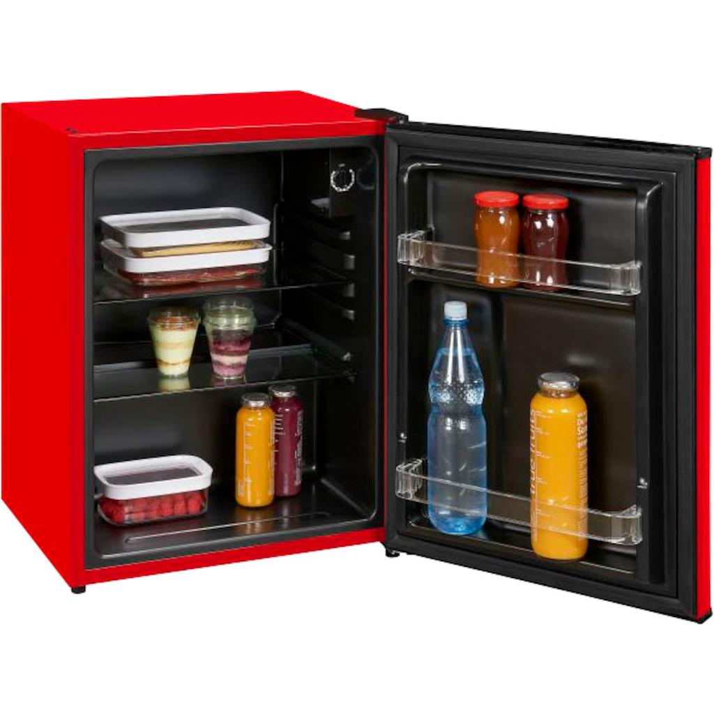 exquisit Table Top Kühlschrank, 62 cm hoch, 47 cm breit