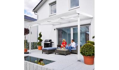 GUTTA Terrassendach »Premium«, BxT: 410x306 cm, Dach Polycarbonat gestreift weiß kaufen