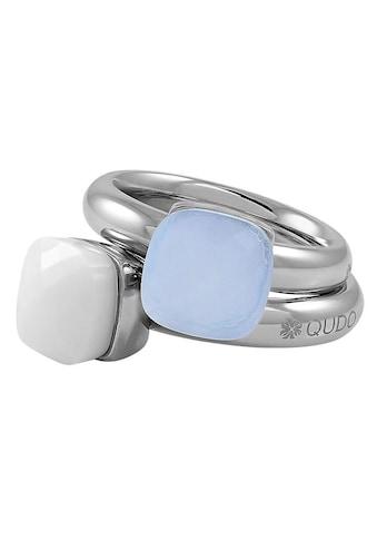 qudo Ring-Set »Firenze big, O600087, O600088, O600089, O600090, O600091«, (Set, 2 tlg.), mit Zirkonia kaufen