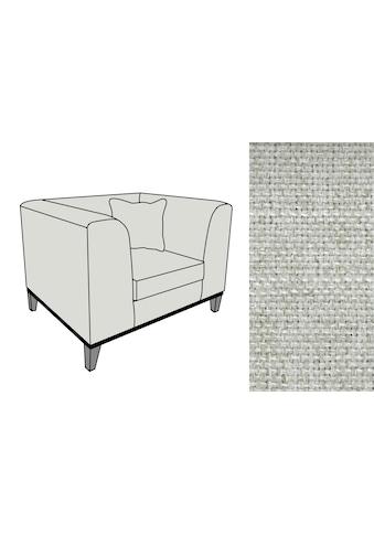 Fink Sessel »MAXIM«, mit schmalem Holzsockel, inklusive Wurfkissen kaufen