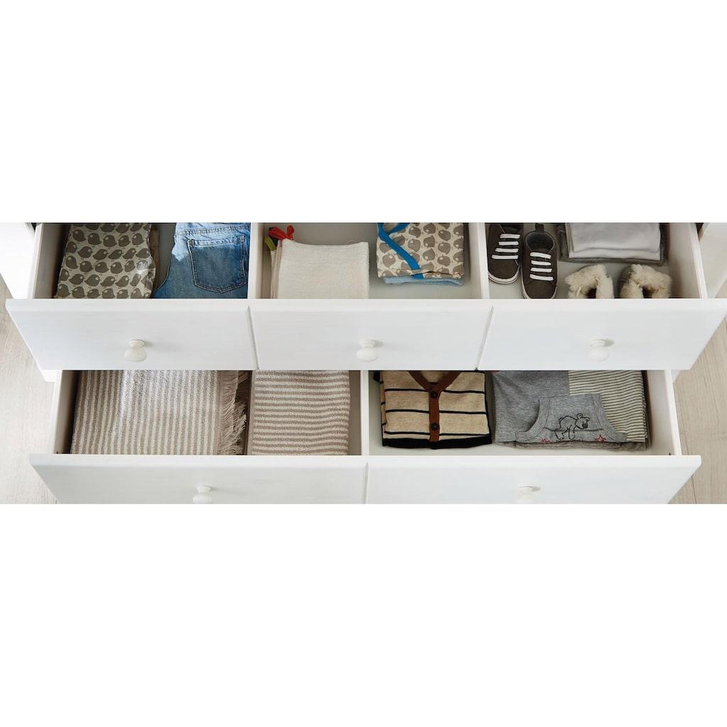 Pinolino® Babymöbel-Set »Pino«, (Spar-Set, 2 St.), breit; Made in Europe; mit Kinderbett und Wickelkommode
