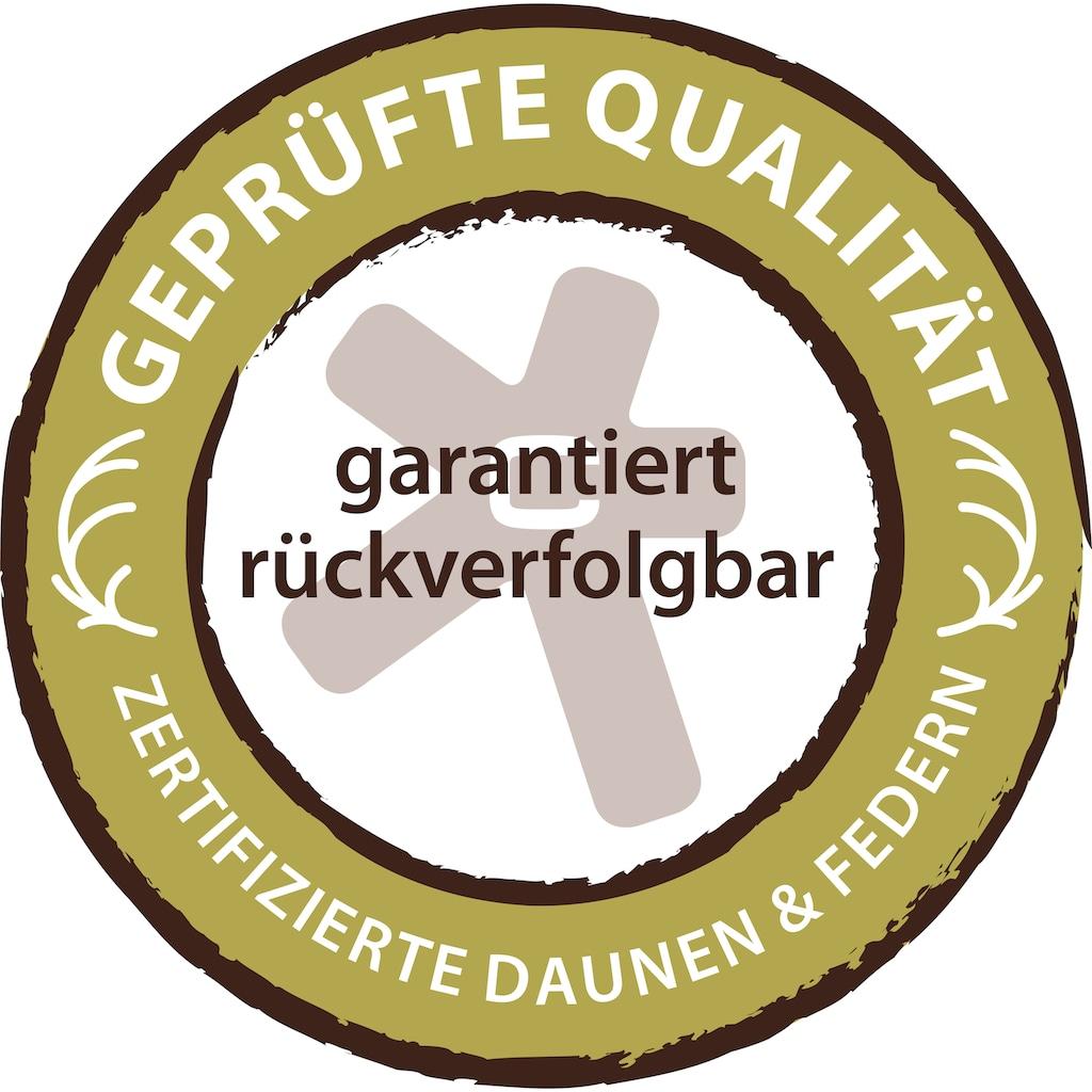 Centa-Star Daunenbettdecke »Queen of Canada«, extrawarm, Füllung 90% Daunen, 10% Federn, Bezug 100% Baumwolle, (1 St.), hervorragende Qualität mit bauschkräftiger Füllung