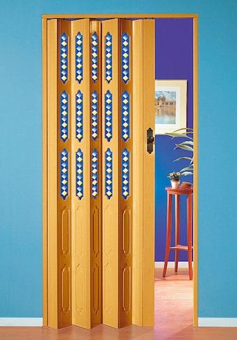 Falttür »Dekor 1 Halbrund«, BxH: 88,5x202 cm, mit dekorativem Motiv im Fenster kaufen