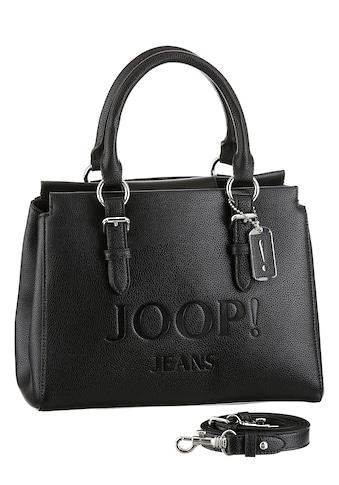 Joop Jeans Henkeltasche »lettera peppina handbag shz«, mit großem Ton in Ton Logo-Druck kaufen