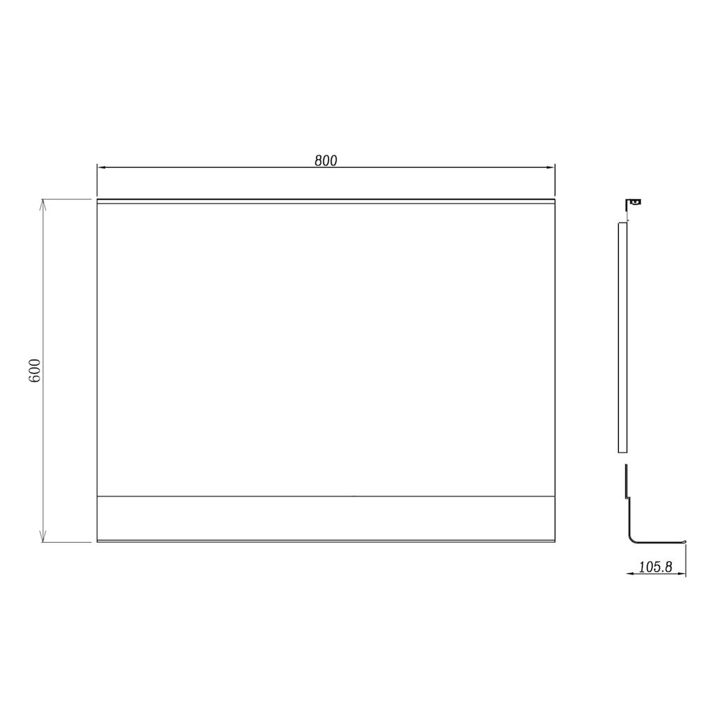 TALOS Komplett-Set: Badspiegel »BLACK HOME«, mit LED Beleuchtung