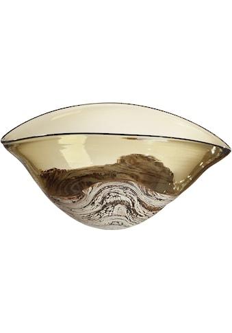GILDE GLAS art Dekoschale »Porpora«, Aus Glas, Höhe ca. 17 cm kaufen