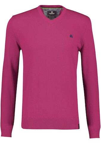 LERROS V-Ausschnitt-Pullover, mit Logostickerei kaufen