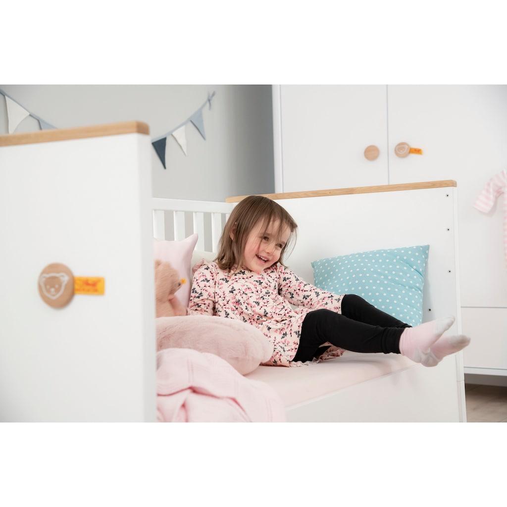 PAIDI Babyzimmer-Komplettset »Babybett Lotte & Fynn«, (2 St.), Steiff by Paidi, inklusive PAIDI AIRWELL® 200 Matratze und 4-fach höhenverstellbarem AIRWELL Comfort Lattenrost