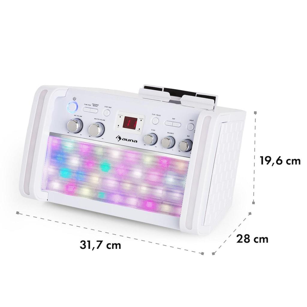 Auna Karaokeanlage Bluetooth Lautsprecher CD Player Dockingstation