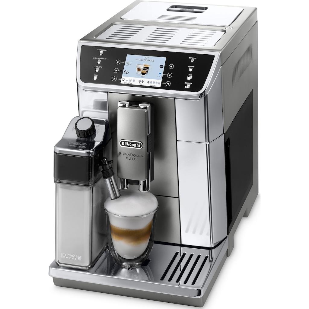 De'Longhi Kaffeevollautomat »PrimaDonna Elite ECAM 656.55.MS«, mit Appsteuerung und Sensor-Touch Direktwahltasten