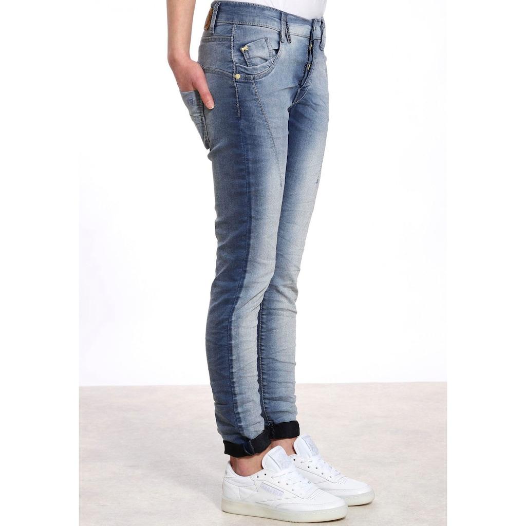 GANG Slim-fit-Jeans »New Georgina«, mit halb verdeckter Knopfleiste