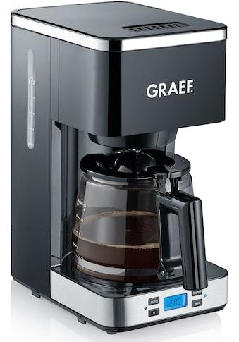 Graef Filterkaffeemaschine »FK 502«, Korbfilter, 1x4, mit Timer und Glaskanne kaufen