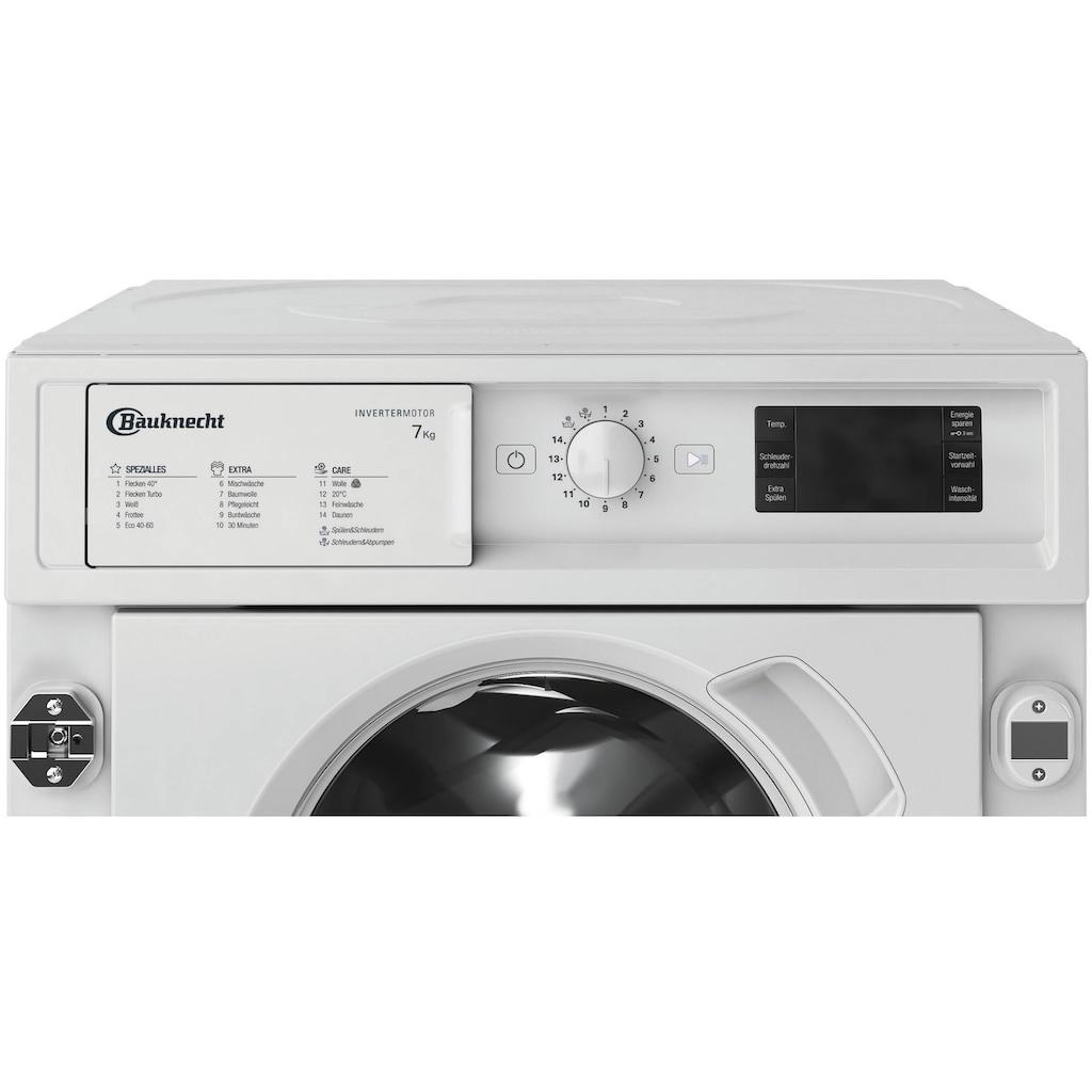 BAUKNECHT Einbauwaschmaschine »BI WMBG 71483E DE N«, BI WMBG 71483E DE N, 7 kg, 1400 U/min