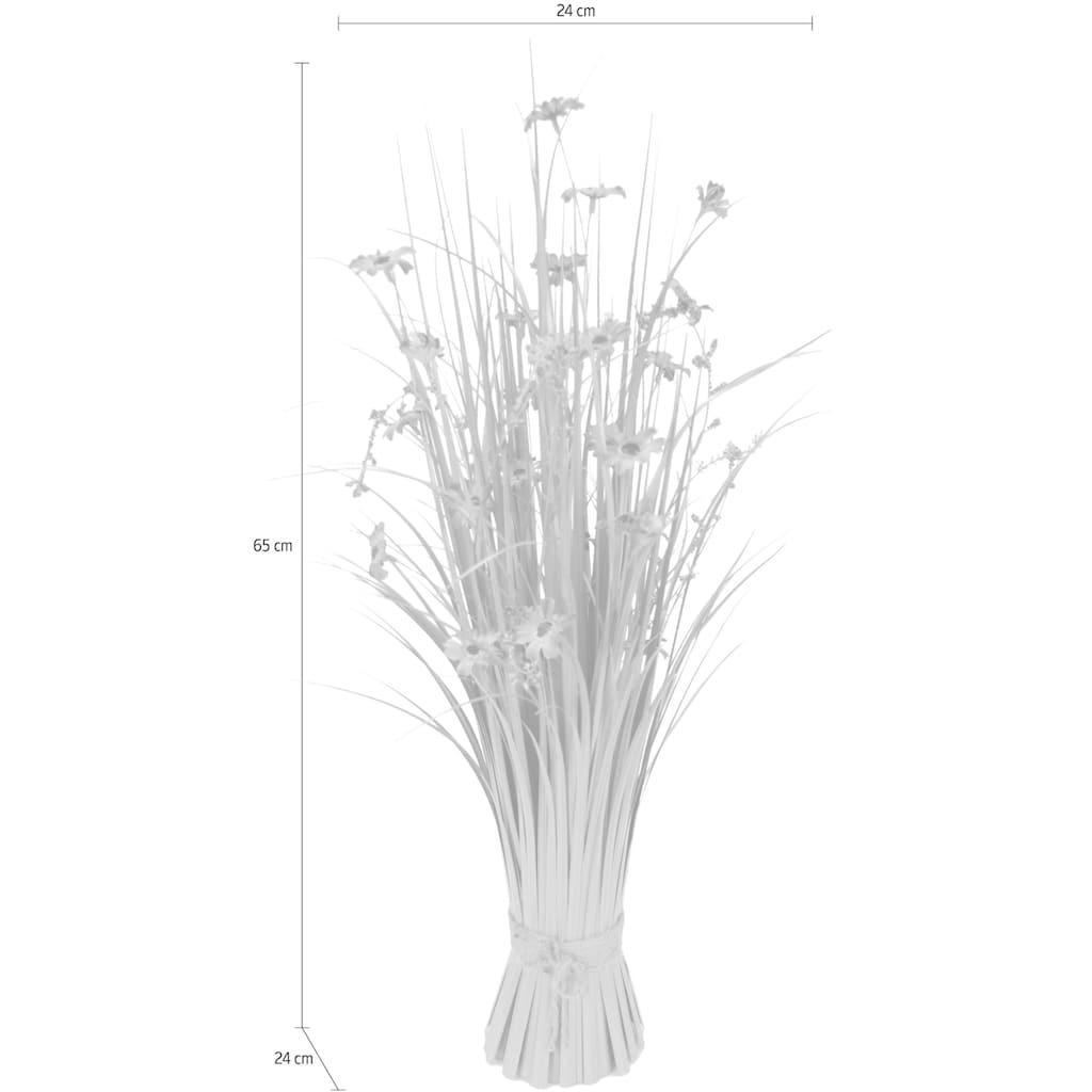 I.GE.A. Kunstgras, Grasbund mit Blüten