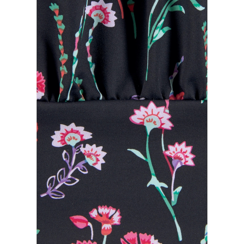 LASCANA Tankini-Top »Bloom«, mit körperumspielender Form