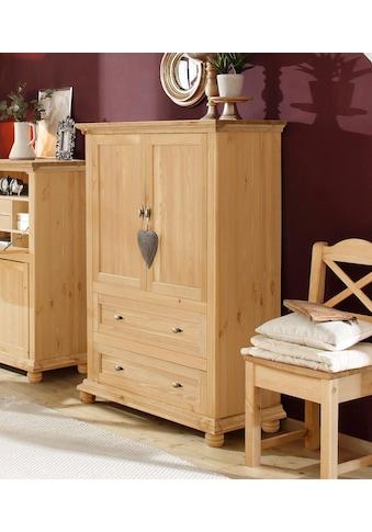 Home affaire Wäscheschrank »Irena«, aus Massivholz, mit zwei Türen und zwei Schubladen, Breite 99 cm kaufen