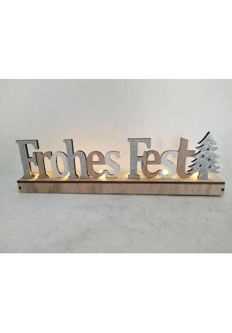 Deko - Buchstaben »Frohes Fest« (1 Stück) kaufen