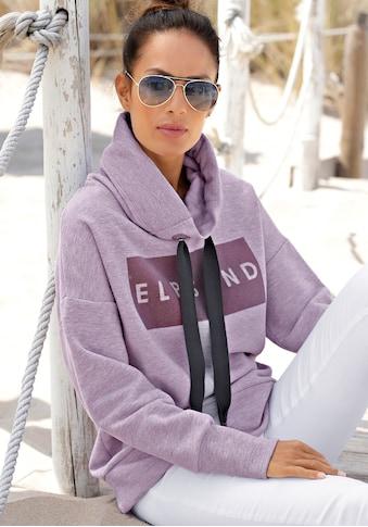 Elbsand Sweatshirt »Arndis«, mit Flockprint kaufen