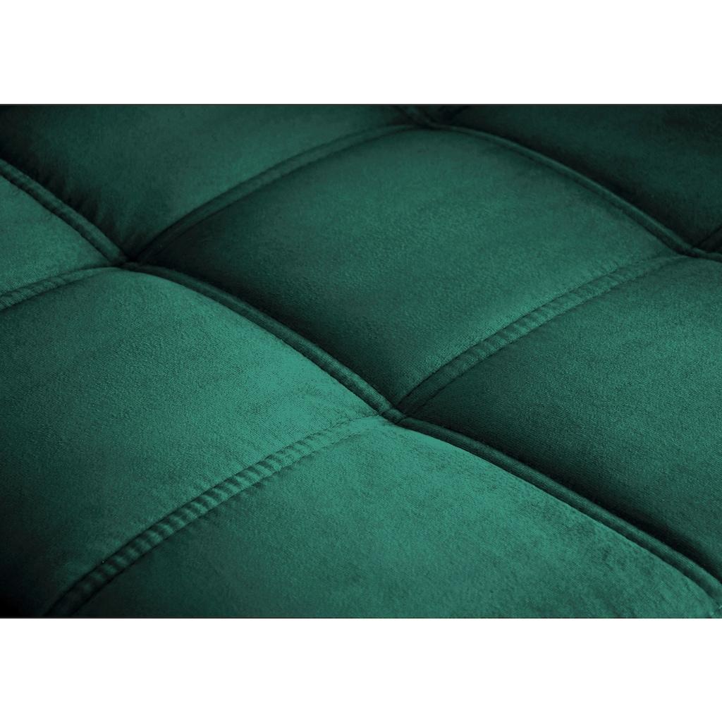 mokebo Ecksofa »Robin«, Schlafcouch mit losen Rückenkissen, Sofa mit Schlaffunktion & Bettkasten
