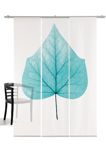 Schiebegardine, »Lindenblatt«, emotion textiles, Klettband 3 Stück kaufen