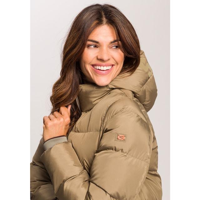 CAMEL Wintermantel Damen Steppjacke mit Kapuze Winterjacke Lang Outdoorjacke Parka Winddicht Wasserabweisend Mantel Damen