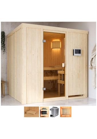 Karibu Sauna »Gelsa«, 4,5-kW-Ofen mit ext. Steuerung kaufen