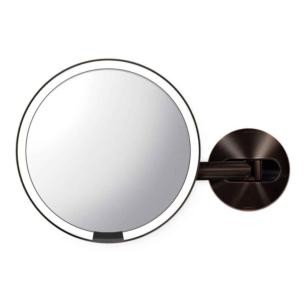 simplehuman Spiegel »20cm Sensorspiegel mit Wandaufbau wiederaufladbar«