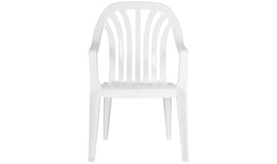 Best Gartenstuhl »Laredo«, 4er Set, Kunststoff, stapelbar, weiß kaufen