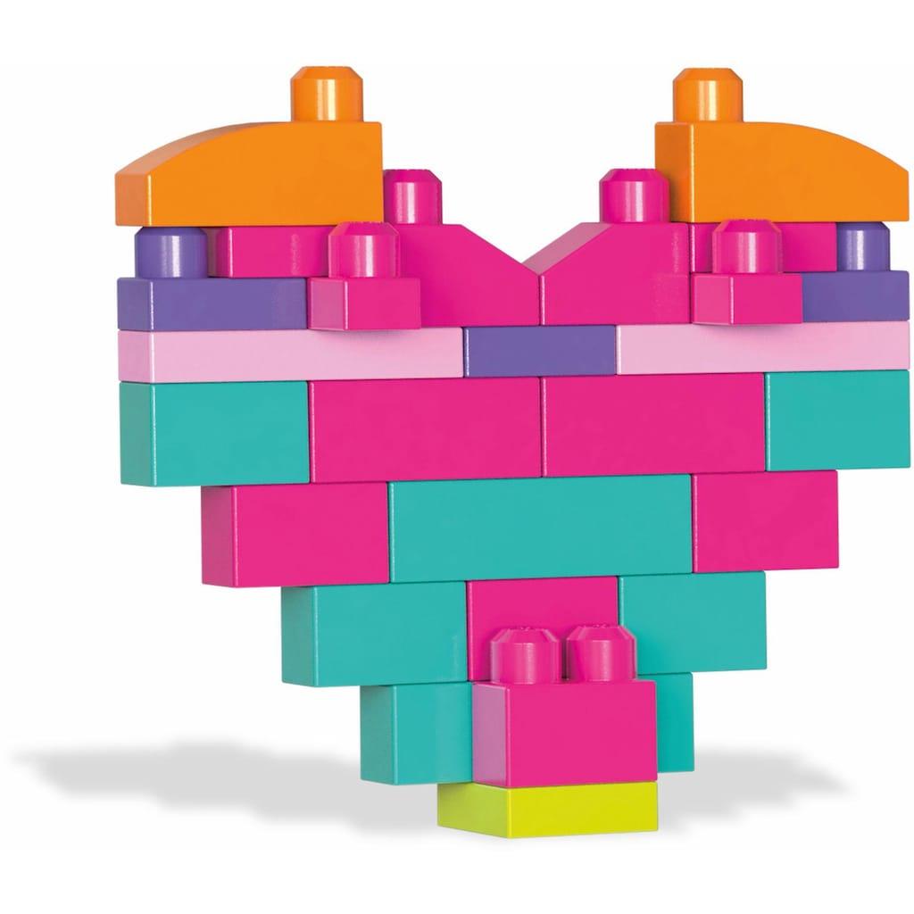 MEGA BLOKS Spielbausteine »Mega Bloks Bausteinebeutel, Groß 80 Teile, pinkfarben«, (80 St.)