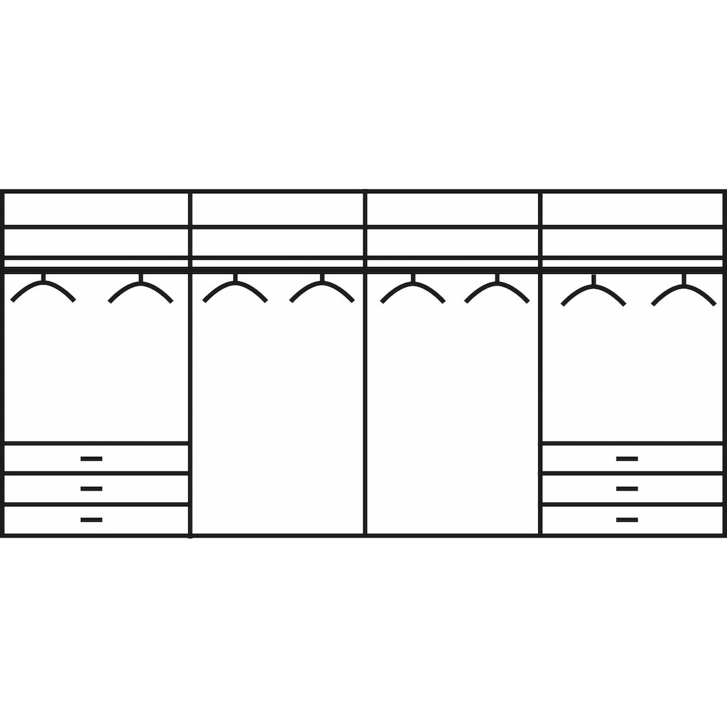 WIEMANN Falttürenschrank »Kansas«, mit Spiegel und Glas