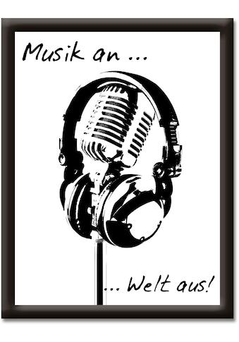Artland Wandbild »Musik an, Welt aus« kaufen