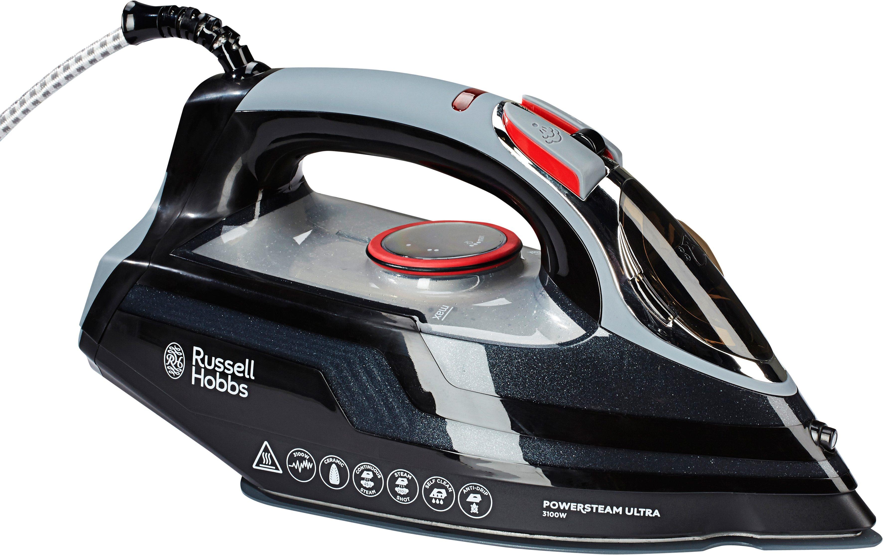 RUSSELL HOBBS Dampfbügeleisen »Power Steam Ultra« 20630-56, 3100 Watt | Flur & Diele > Haushaltsgeräte > Bügeleisen | Schwarz | Keramik | RUSSELL HOBBS