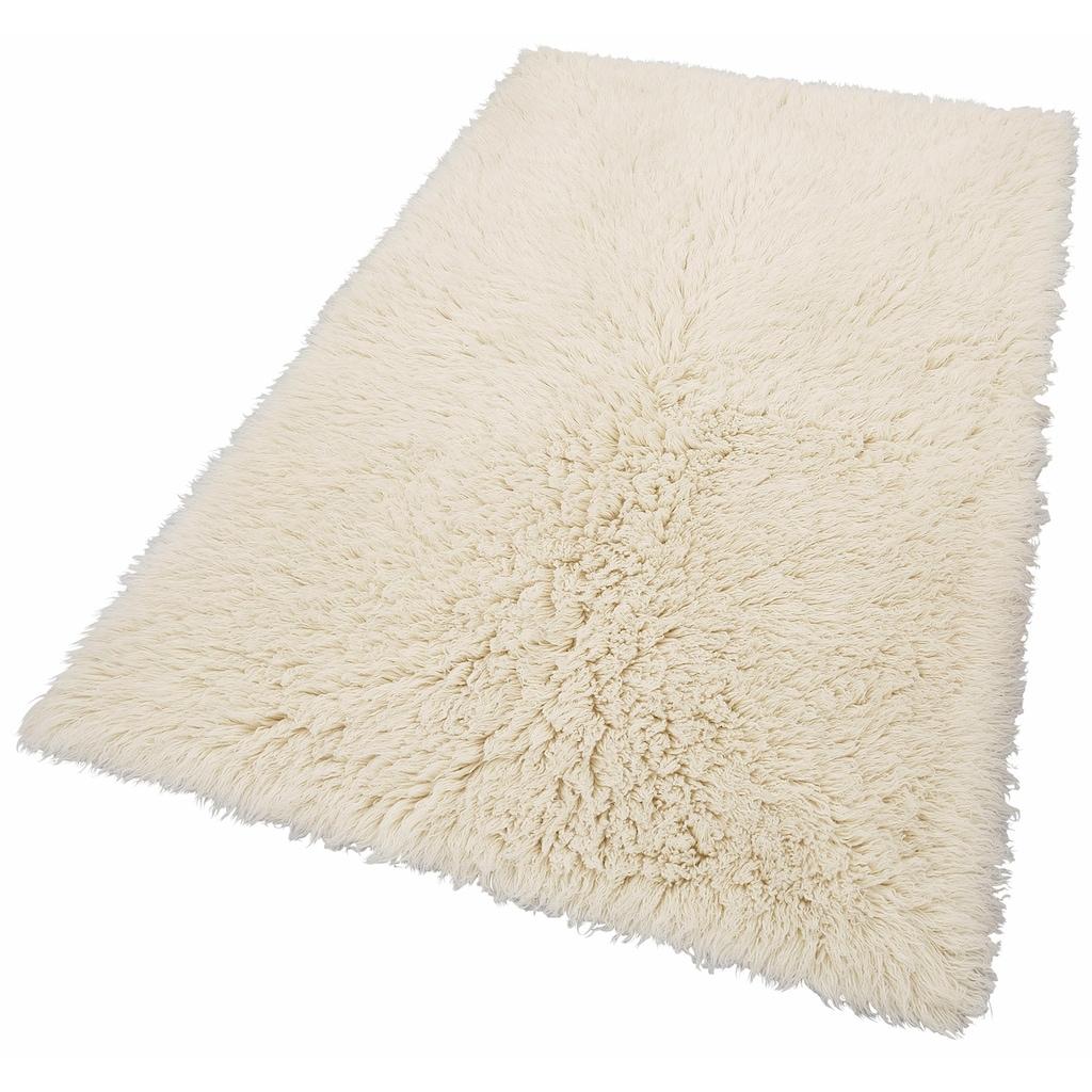 Theko Exklusiv Wollteppich »Flokos 2«, rechteckig, 70 mm Höhe, Hochflor, reine Wolle, handgewebt