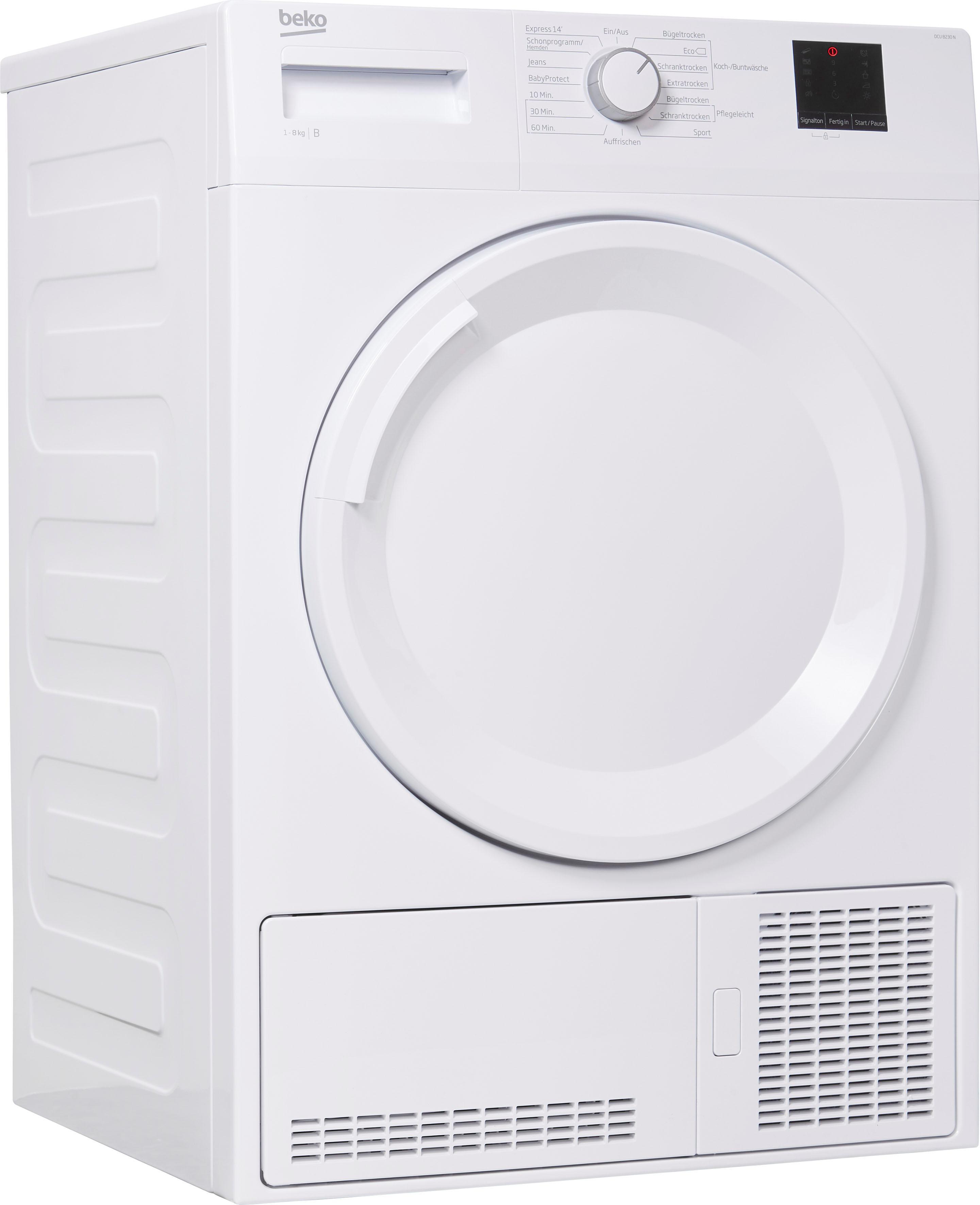 BEKO Kondenstrockner DCU 8230 N, 8 kg | Bad > Waschmaschinen und Trockner > Kondenstrockner | Beko