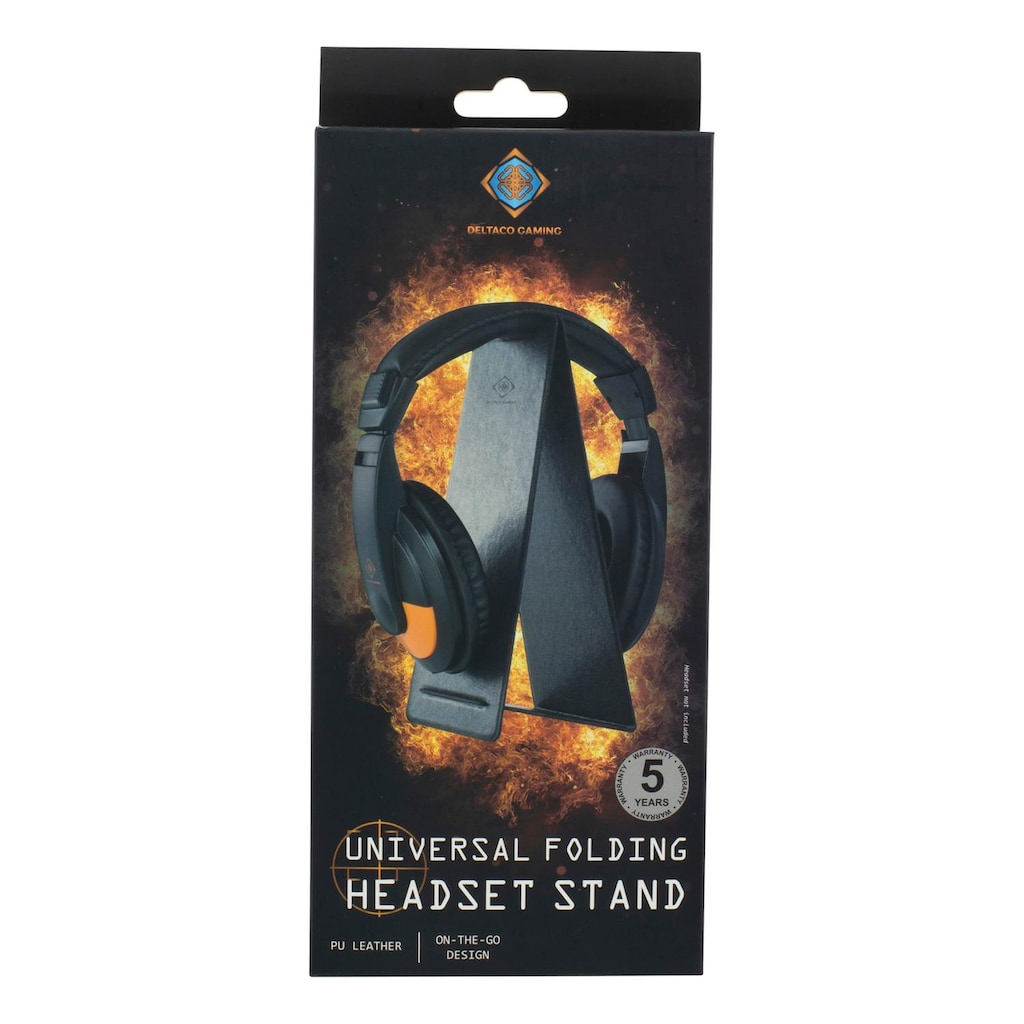 DELTACO Headset-Halterung »Universal-Kopfhörer-Klappständer«, leicht Design