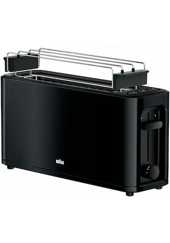 Braun Toaster »HT 3110 BK«, 1 langer Schlitz, für 2 Scheiben, 1000 W kaufen