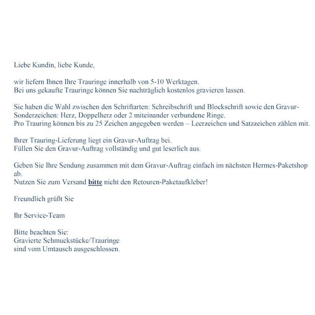 Firetti Trauring mit Gravur »Glanz, in mehreren Breiten erhältlich, Roségold«