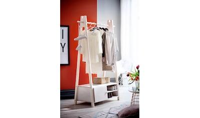 Home affaire Garderobenständer »Ward«, aus massivem weiß lackiertem Fichtenholz, Höhe 170 cm kaufen