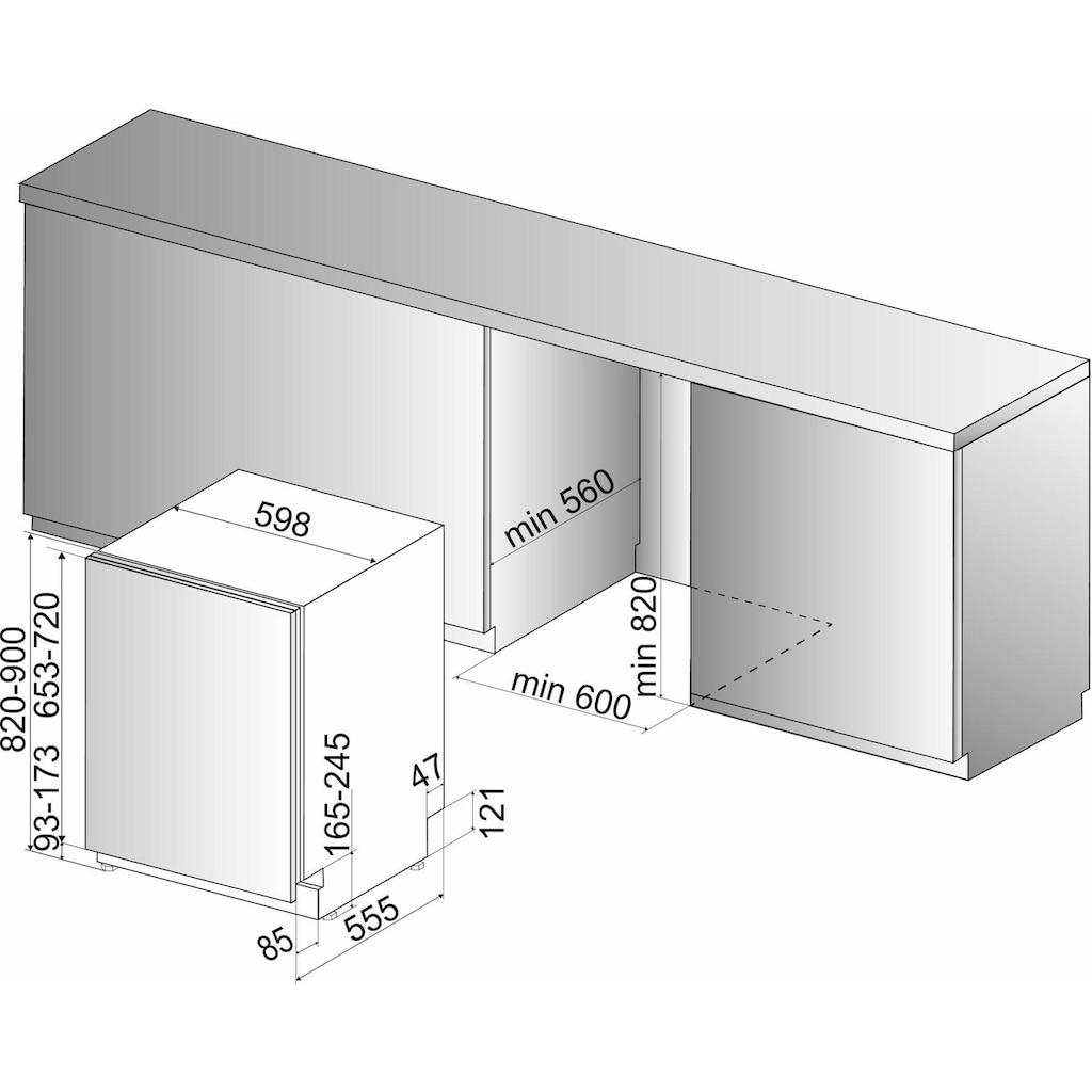 BAUKNECHT vollintegrierbarer Geschirrspüler, 9,5 Liter, 14 Maßgedecke