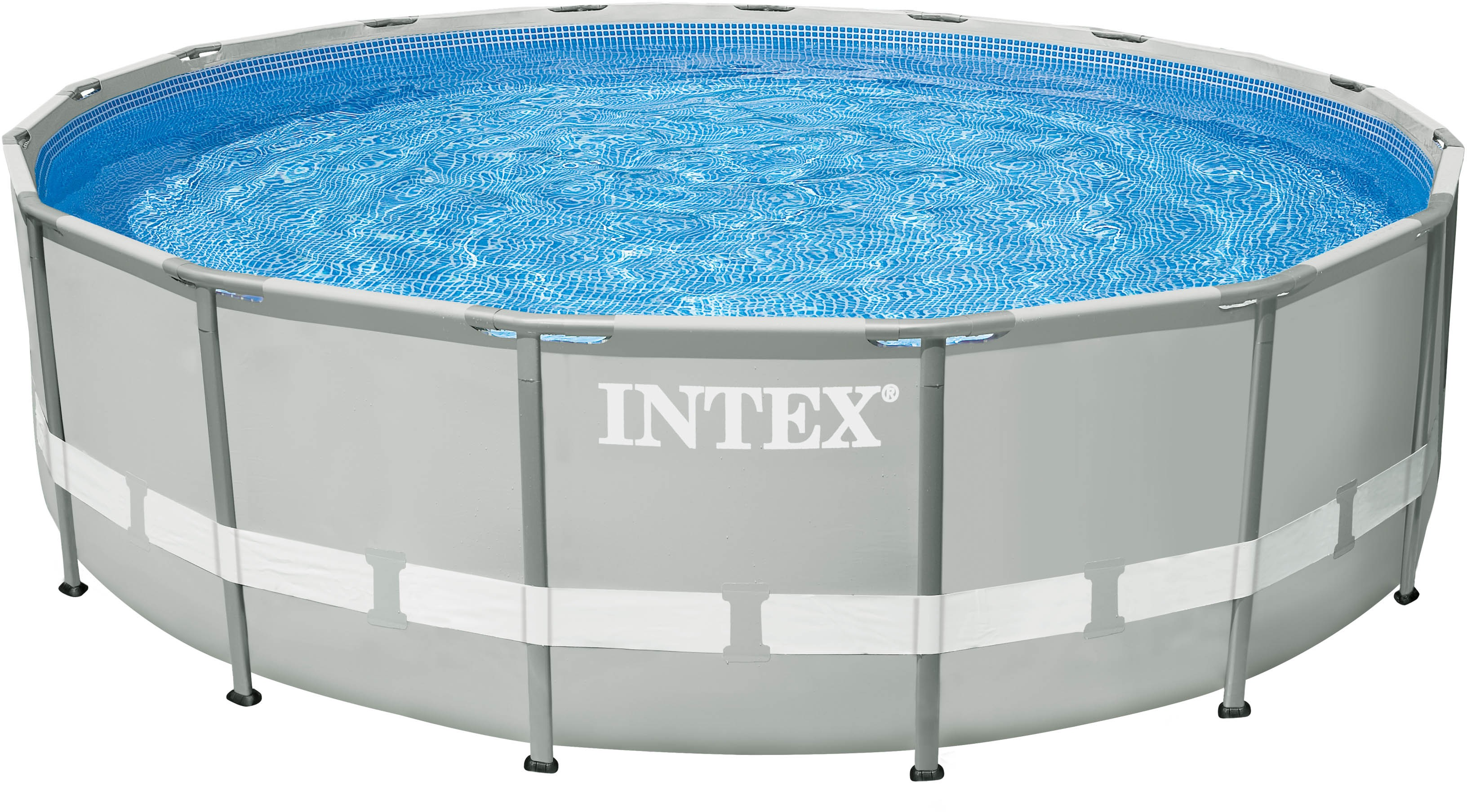 Intex Pool-Set, mit Kartuschenfilteranlage, Ø 488 cm, »Frame Pool Ultra Komplett-Set« | Garten > Swimmingpools > Filteranlagen | Grau | INTEX