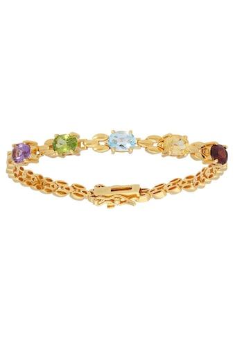 Firetti Armband »mehrfarbig, vergoldet, glänzend«, mit Amethyst, Peridot, Blautopas,... kaufen