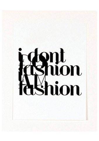 G&C Kunstdruck »Fashion«, 33/43 cm, gerahmt kaufen